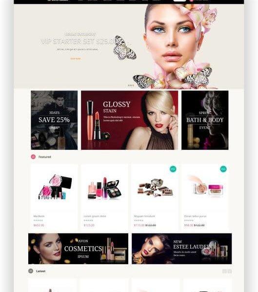 Shopthema für Kosmetik