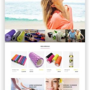 OpenCart Yoga Shop Thema