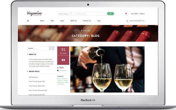 Neues WooCommerce Wein Shop Thema