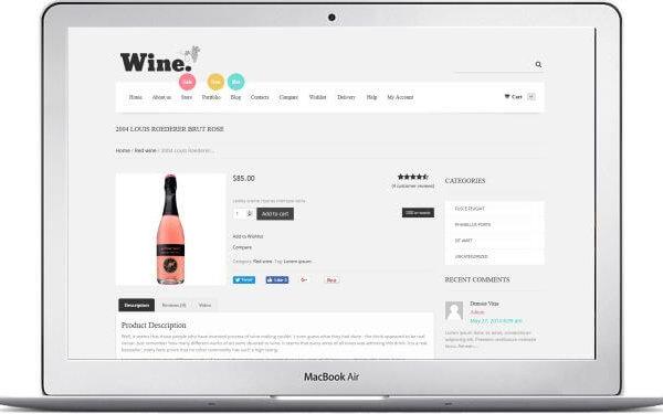 WooCommerce Wein Supermarkt Thema