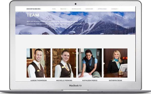 Webseite für Winterhotel